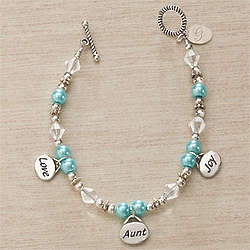 Personalized Charm Bracelet for Aunt