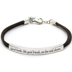 Good Books and Good Friends Bracelet