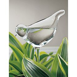 Glass Bird Plant Feeders