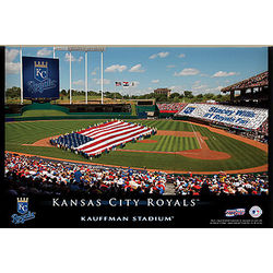 Kansas City Royals 12x18 Personalized Stadium Canvas