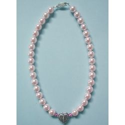 Rosaline Pink Pearls and Heart Bead Pet Collar