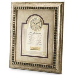 50th Anniversary Framed Clock