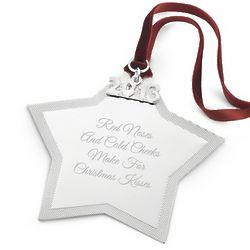 Engravable 2013 Star Christmas Ornament