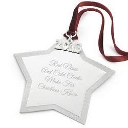 Engravable 2013 Star Christmas Ornament