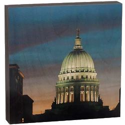 Wisconsin Capital Dome Photo on Wood Wall Hanging
