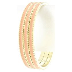 Ribbed Golden Bangles