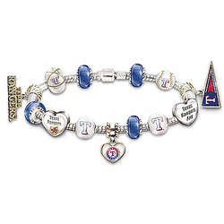 Texas Rangers Beaded Charm Bracelet