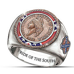 The Civil War Commemorative 1861 Confederate Cent Men's Ring