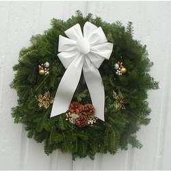 "Elegance Balsam Fir 24"" Holiday Wreath"