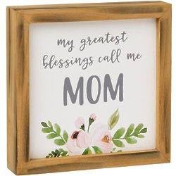 """Call Me Mom 7"""" Framed Plaque"""
