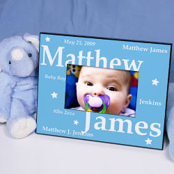 Personalized New Baby Boy Printed Frame