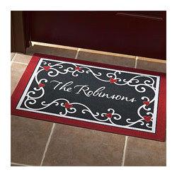 Personalized Heart Scroll Doormat