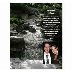 Personalized Poem with Waterfall Scene for Brother or Sister