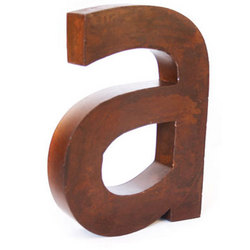 Rustic Metal Wall Letter