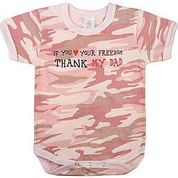 Pink Camo 'Thank My Dad' One Piece Bodysuit