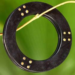 St. Vincent Ebony and Bone Bangle Bracelet