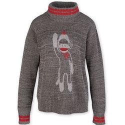 Sock Monkey Turtleneck Sweater