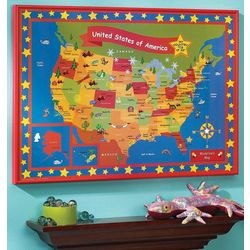 Personalized Nifty Fifty States Map