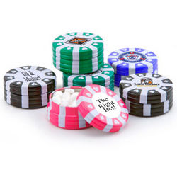 Poker Chip Mint Candy Favors