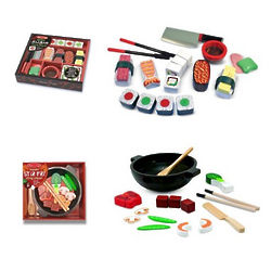 Sushi Slicing Playset and Stir Fry Slicing Playset
