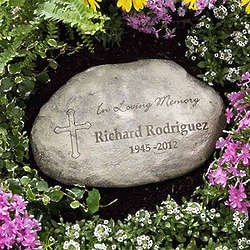 Personalized In Loving Memory Garden Memorial Stone