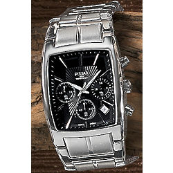 Men's Rectangular Chrono Watch