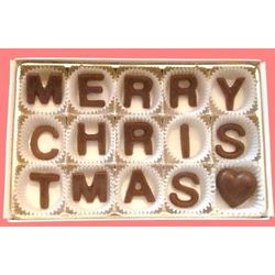 Merry Christmas Milk Chocolate Box