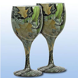 Camouflage Wine Glasses