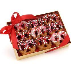 Sweetheart Box of 9 Gourmet Pretzel Twists