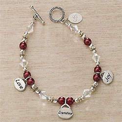 Personalized Charm Bracelet for Grandma