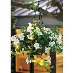 Petunia Light Up Hanging Flower Basket