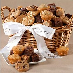 With Sympathy Assorted Baked Goods Bites Basket