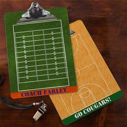 Field and Court Plays Personalized Dry Erase Clipboard