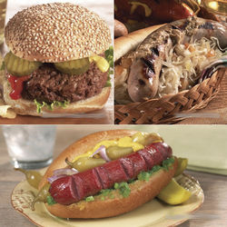Grilling Favorites Brats, Burgers and Franks Gift Box