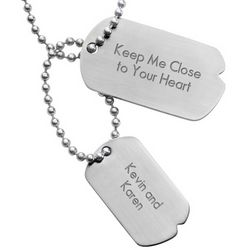 Personalized Urban Horizontal Double Dog Tag