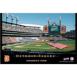 Detroit Tigers 12x18 Personalized Stadium Canvas