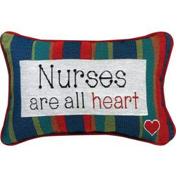 Nurses Are All Heart Pillow