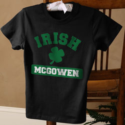 Irish Pride Personalized Women's Black Fitted Shirt