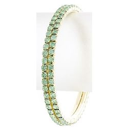 Sea Green Crystal Bangle