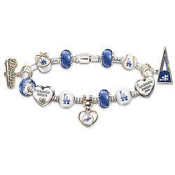 Los Angeles Dodgers Beaded Charm Bracelet