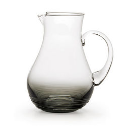 Swirl Smoke Glass Pitcher