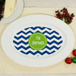 Personalized Chevron Serving Platter