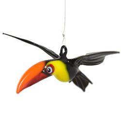 Toucan Bird Hanging Art Glass Figurine