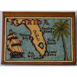 Florida Map Leather Photo Album