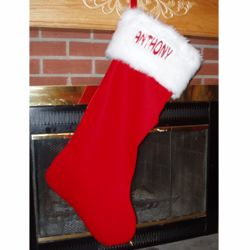 Personalized Gigantic Traditional Christmas Stocking