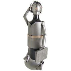 Female Lawyer Steel Wine Bottle Holder Caddy