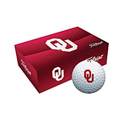 Personalized Oklahoma Sooners Collegiate Golf Balls