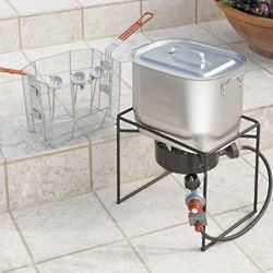 Oil-Saving Outdoor Fryer