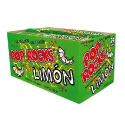 Limon Flavored Pop Rocks Candy Box