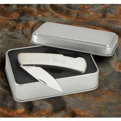 Personalized Stainless Steel Lockback Knife